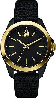 REEBOK Prisma Black Woman Watch, 34 mm case, Black face, Abs case, Black Silicone Strap, Back/Gold dial (RD-PRI-L2-PBIB-B2)