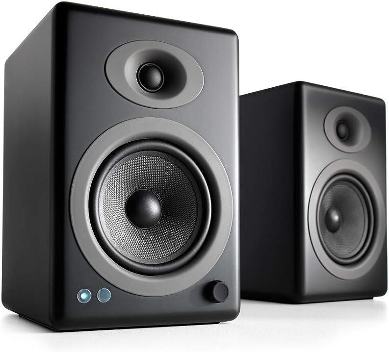 Altoparlanti amplificati da mensola da 150w wireless audioengine a5+   amplificatore analogico integrato A5+BT - BLK