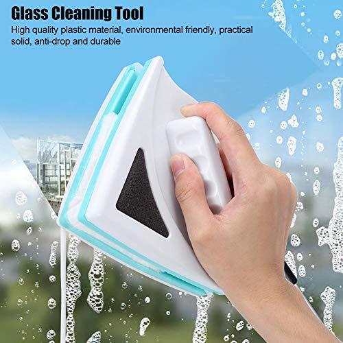 Limpiaparabrisas de vidrio de doble lado Limpiador de ventanas magnético Herramienta de limpieza de vidrio para interiores y exteriores Suministros para el hogar