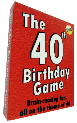 The 40th Birthday Game - amusing little gift or present idea for anyone turning forty. Fun as a 40th...