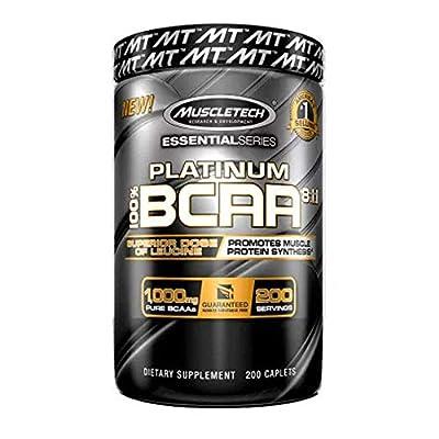 Muscletech Platinum BCAA 8:1:1 Sports Supplement Capsules, 200-Piece from Muscletech