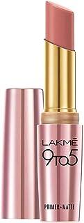 Lakme 9 to 5 Primer + Matte Lip Color, Blushing Nude, 3.6 gm