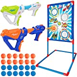 Ylovetoys Shooting Game Toy for Kids with Standing Shooting Target, 2 Foam Ball Popper Air Guns, 24 Foam Balls, 1 Shooting Target