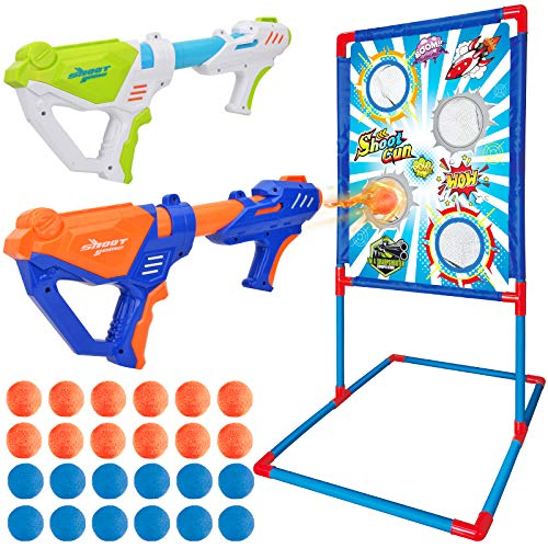 Ylovetoys Shooting Game Toy for Kids with Standing Shooting Target, 2 Foam...
