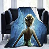 RGFK Ultra-Soft Throw Blanket,Tinkerbell Wing Design Warm Blanket Bedspreads for Bed Couch 50 x 40 inch