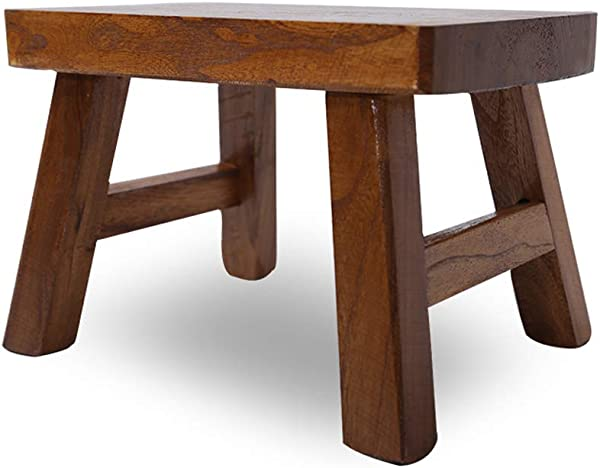 9 5 Inch Height Small Stool Step Foot Stool Solid Wood Home Garden Waterproof