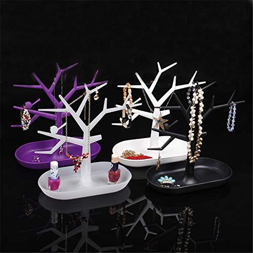 KNJF Metal Estante de la joyería Joyería de exhibición Soporte Joyería Pendientes Creativos Forma de árbol Joyería Creativa Soporte de exhibición Almacenamiento Organizador de joyería para Dormito