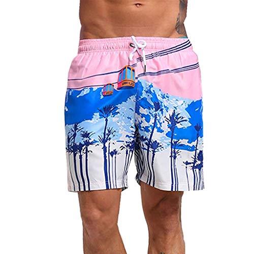 RANTA 2020 Neujahr Badehose für Herren Jungen Billig Badeshorts für Männer Kurz Vielfarbig Schnelltrocknend Beachshorts Boardshorts Strand Shorts Trainingshose mit Mesh-Futter