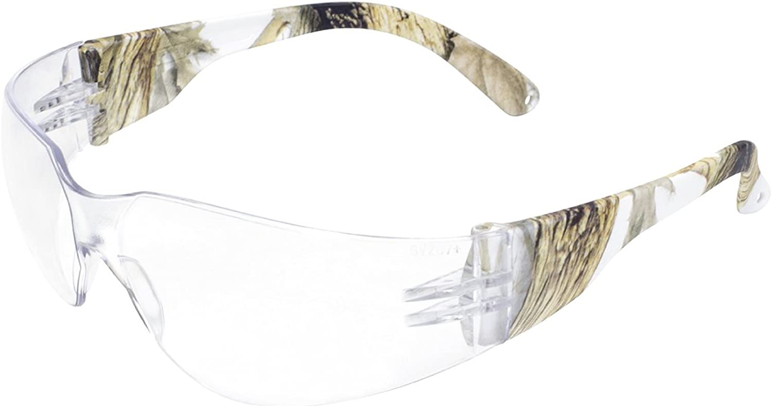 Global Vision Eyewear Rider WHT CAMO CL Rider Safety Glasses Clear Lens, Temples, White Camo