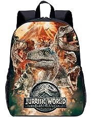 Juras-sic Wor-ld Rugzakken, schooltas voor jongeren, schoudertassen voor jongens en meisjes, ergonomisch design, bescherming tegen de wervelkolom