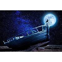 大人のためのゲーム1500ピース夜に木製のボートに立っている鳥大きなサイズと、友達への素晴らしい贈り物87X57cm