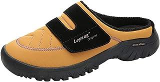Xmiral Pantofole Uomo Vello Memory Foam Ciabatte Antiscivolo Caldo da Casa Interno Esterno Pantofole