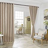 WARM HOME DESIGNS 2 of 108' (Width) X 108' (Length) Wall to Wall Beige Taupe Embossed Room Divider...