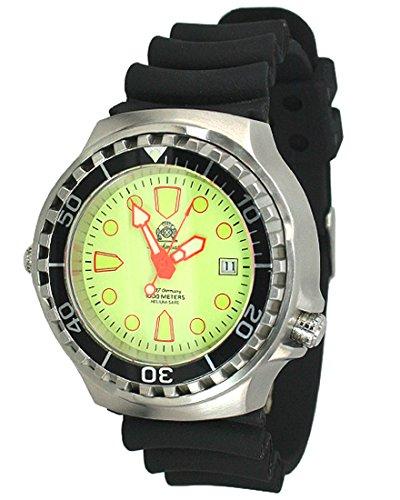 "Profi Taucher Uhr ""Automatik Werk"" Saphir Glas - Helium Ventil T228"