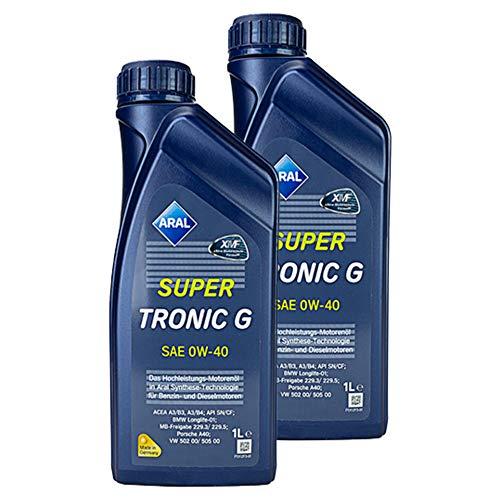 ARAL 2X Supertronic G SAE 0W-40 1 L Öl Motoröl Motorenöl Schmiere Schmierstoff