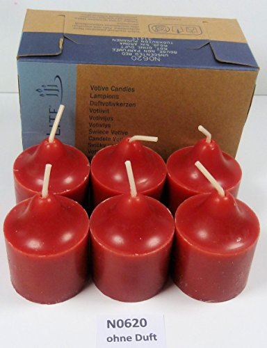 PartyLite Votivkerzen ohne Duft, Farbe rot