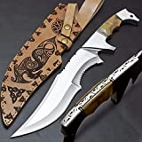 JUSTRAREKNIVES USA Special Edition: 17' Unique Custom Handmade D2 Steel Tactical Camping Knife/Mini Sword with Leather Sheath (JRK26)