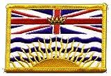 Flaggen Aufnäher Kanada Britisch Kolumbien Fahne Patch +