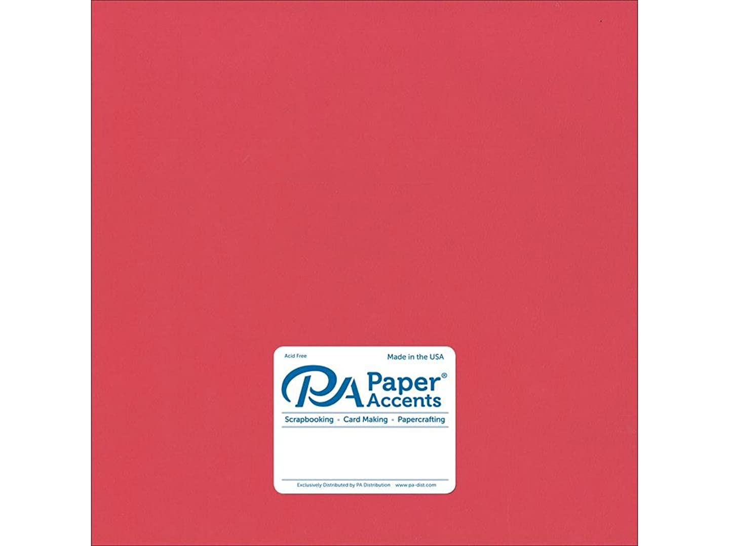 Accent Design Paper Accents Cdstk Smooth 12x12 74# Strawberry