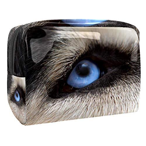 TIZORAX Trousse de maquillage en PVC avec œil de loup pour femme
