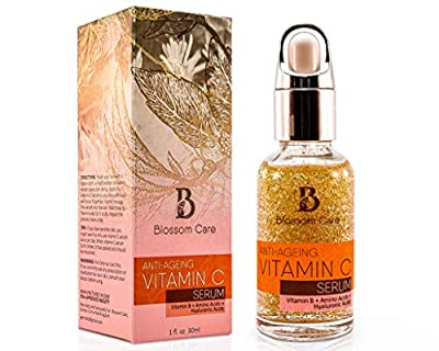 Vitamin C Serum for Face with Hyaluronic Acid – Anti Ageing and Anti Wrinkle Face Serum with Vitamin B and E – Skin Moisturiser for Men and Women – Natural Face Serum to Restore Collagen by