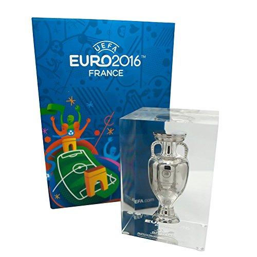 UEFA EURO 2016 Pokal Trophy 100mm im Acryl Block Europameisterschaft Frankreich