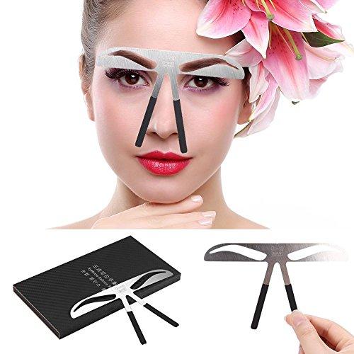 Pinceau à Sourcils - Delaman Tatouage Sourcils Règle Modèle, Mesure Microblading Grooming Shaper Étrier pour Maquillage Permanent Positionnement à trois points (Édition : Classic)