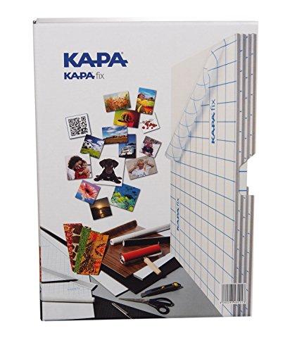 Kapa-fix Box mit 8 Leichtstoffplatten DIN A4 selbstklebend zum Aufziehen von Digitalfotos und für den Modellbau-