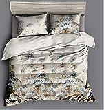 HDBUJ Bettbezug Mit Einfachem Muster, Reißverschluss, Bettwäsche Aus Weichem Polyester, Zwei Kissenbezügen, Einzelbett (Doppelbett) 220X240Cm