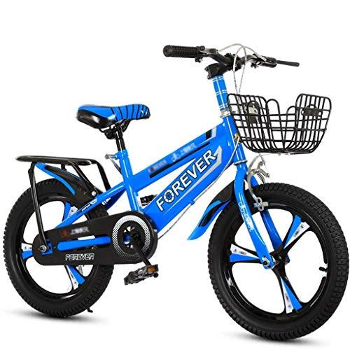 Bicicletas para niños de interior para niños de 3 a 12 años de edad bicicleta para niños bicicleta para niños (color: azul, tamaño: 16 pulgadas) JoinBuy.R