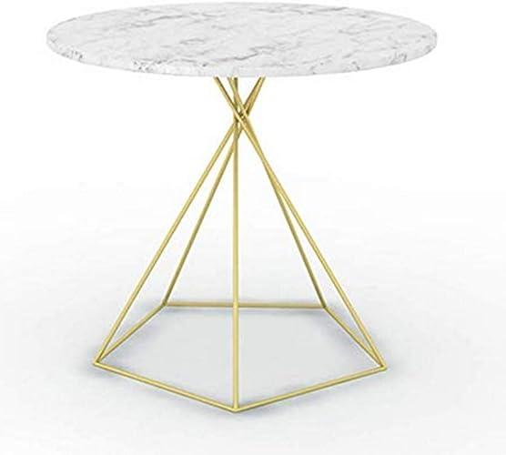 NAN Petite Table de Sofa de Table Ronde en Fer, Table Basse de Table d'appoint en métal, 3 Couleurs Nordiques, 55 cm  55 cm  50 cm (Couleur   Or)