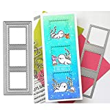 Rectangle Sqaure Frame Metal Die Cuts,Long Frame Square Christmas Card Cutting Dies Cut Stencils for DIY Embossing Photo Decorative Paper Dies Scrapbooking Card Making