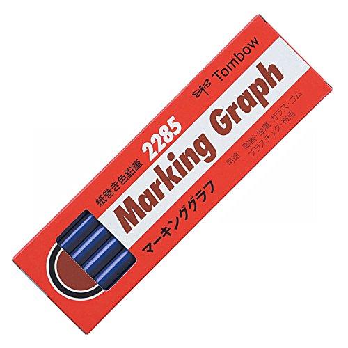 トンボ鉛筆 マーキンググラフ 藍色 2285-1712本入り