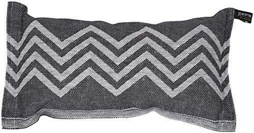JOKIPIIN   1 Saunakissen und Reisekissen Peak, 40 x 22 cm, Leinen/Baumwolle, Made in Finland (schwarz/weiß)