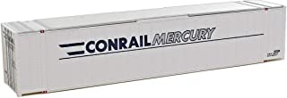 Walthers SceneMaster HO Scale Model of Conrail (Conrail Mercury Graphics; White, Blue, Gray) 48' Ribbed Side Container