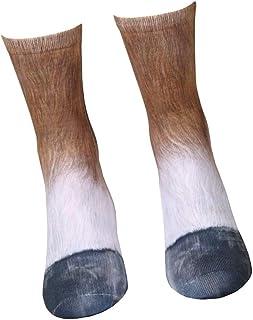 TrifyCore, Creativo 3D Animal calcetines de la pata de simulación 3D Pies Impresión del caballo Calcetines adultos para adultos unisex