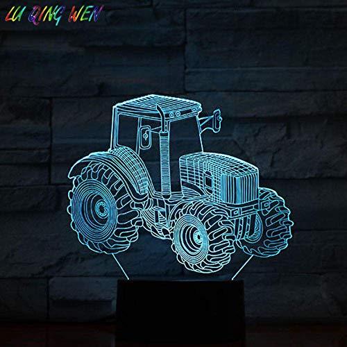 3DMagische LaterneFührteNachtlicht Farm Traktor Kinderhaus Dekoration Atmosphäre Neuheit Tischlampe Kinderzimmer Geschenk