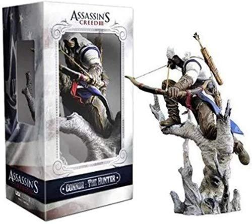 KIJIGHG Assassin s Creed 3 Series Connor Figura Modelo Mueca Adornos Juego Muecas circundantes Figura de Anime Figuras de accin Modelo 28CM