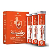 Trycone Immunity Booster – Natural Vitamin C 1000 mg with Zinc 12 mg – Antioxidant & Skin care- 60 Effervescent Tablets – Orange Flavour