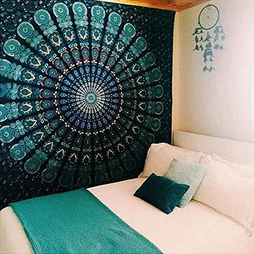 KHKJ Mandala Tapiz Estilo Hippie Colgante de Pared Revestimiento de Pared Estera de Yoga decoración del hogar Toalla de Playa Mantel A6 150x130cm