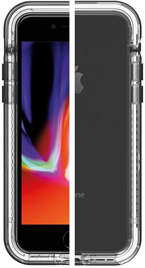 LifeProof Next Screenless Series Case for iPhone SE (2020), iPhone 8, iPhone 7 (NOT Plus) - Retail Packaging - Black Crystal