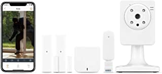 Home8Pro Wireless Security System (4-Piece Kit), 24/7 Professional Monitoring, No Contracts, Free 1-Cam, 2-Contact Sensor, 1-Hub, Compatible with Alexa, Portable, Perfect for Apartments or Renters