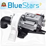 Ultra Durable W10536347 Washer Drain Pump Replacement part by Blue Stars - Exact Fit for Whirlpool Kenmore Washers - Replaces W10217134 AP5650269 W10281682 PS5136124