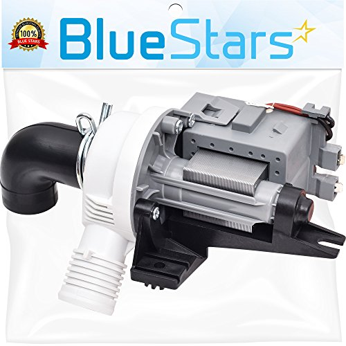 Ultra Durable W10536347 Washer Drain Pump Replacement part by Blue Stars - Exact Fit for Whirlpool Kenmore Maytag Washers - Replaces W10217134 AP5650269 W10281682 PS5136124