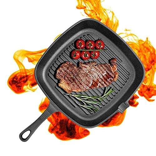 SZPZC Kitchen Cookware Frying pan Iron Non-Stick Cast Iron Grill Frying Pan Saucepan Multifunction Griddle BBQ Cooking Baking Skillet Pan Home Kitchen Cooker Tool Cookware