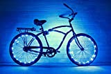 GlowRiders Bike Wheel/Lights - Colorful Light Accessory for Bike - Perfect for Burning Man (Blue)