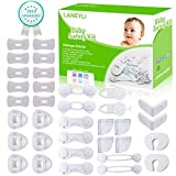Baby Safety Kit LANEYLI Proofing Kit with Cabinet Locks, Cabinet Strap Locks, Corner Protectors, Outlet Covers and Finger Pinch Guards Accident Proof Devices Tools Free No Drill Required 34 Pcs