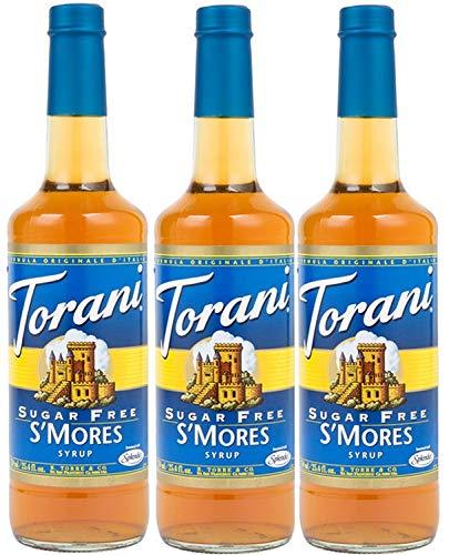 Torani Sugar Free S#039mores Flavoring Syrup  750 ml 3 pack