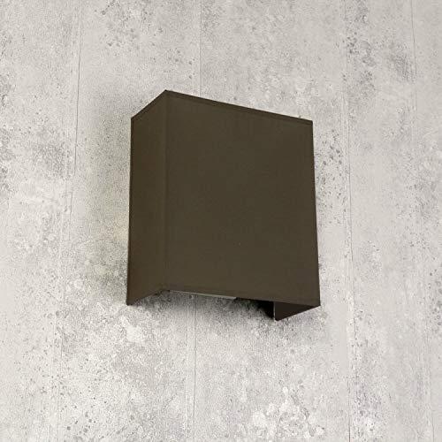 Loft wandlamp stoffen kap taupe loft design hoekig modern E27 wandlamp woonkamer hal