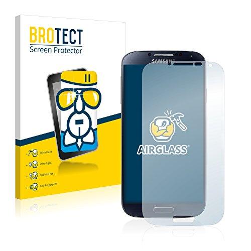 brotect Pellicola Protettiva Vetro Compatibile con Samsung Galaxy S4 LTE I9505 Schermo Protezione, Estrema Durezza 9H, Anti-Impronte, AirGlass